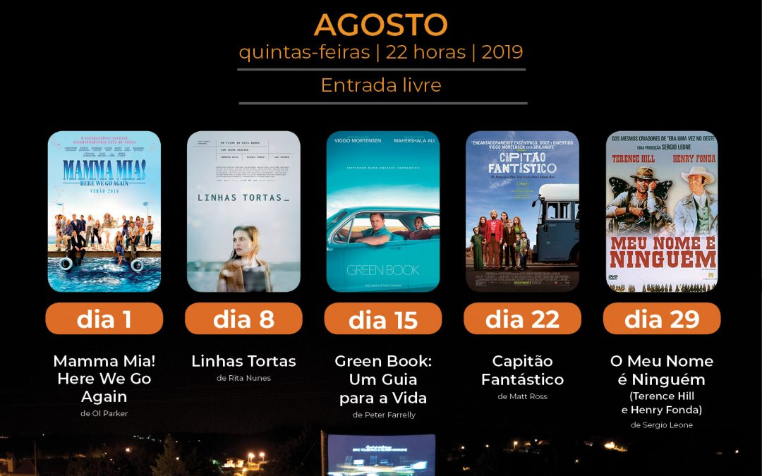 Cinema ao ar livre na esplanada do Cá da Terra