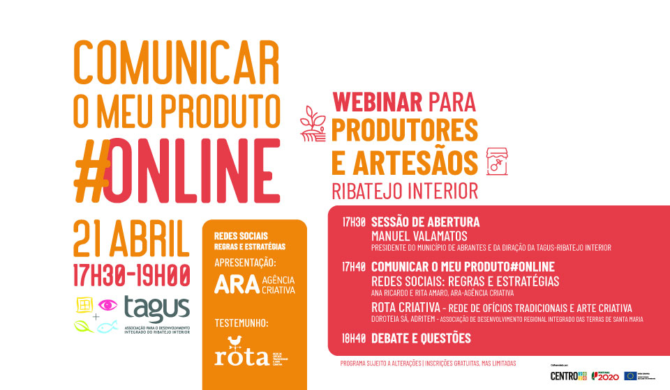 "TAGUS promove webinar ""Comunicar o meu produto #online"""