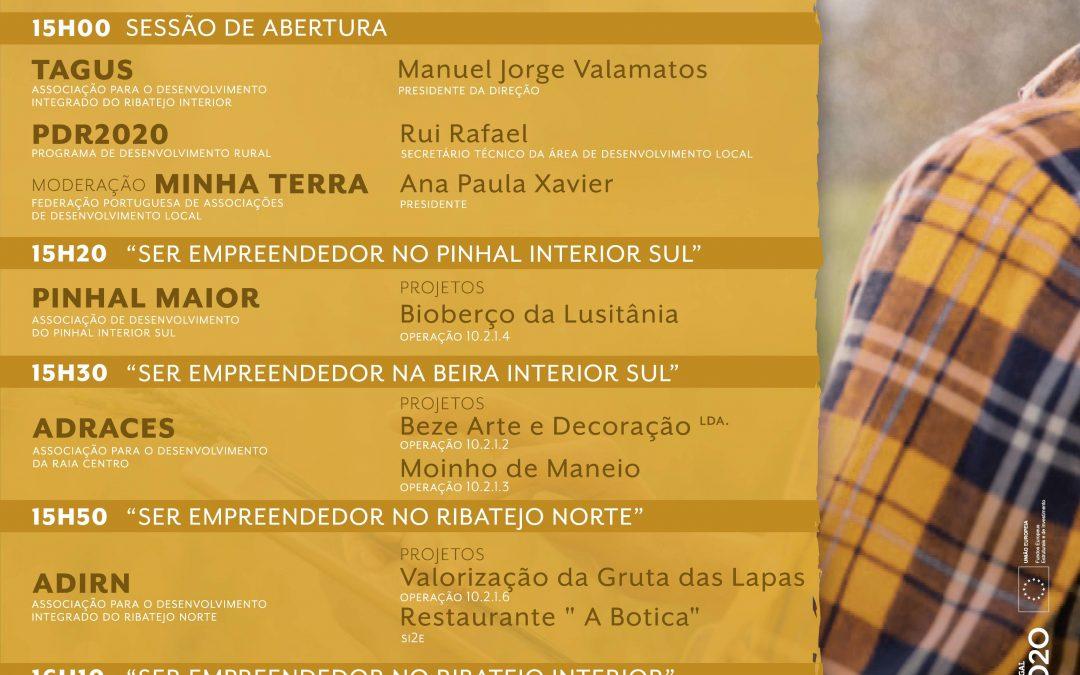 """O contributo das associações de desenvolvimento local para os territórios rurais evidenciado no webinar """"Ser empreendedor em meio rural"""""""